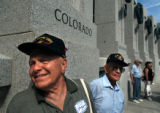 (Washington D.C. - SHOT 5/27/2004) World War II veterans Leroy Crawn (left), 77, who was a Marine...
