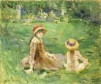 1. In the Garden at Maurecourt, c. 1884, by Berthe Morisot (1841–1895).  Oil on canvas, 21-1/4...