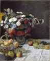 1. Still Life with Flowers and Fruit, 1869, by Claude Monet (1840–1926). Oil on canvas, 39-3/8...