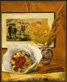1. Still Life with Bouquet, 1871, by Pierre-Auguste Renoir (1841-1919). Oil on canvas, 29-1/8 x...