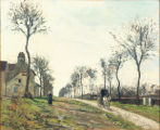 The Marly Road, c. 1870, by Camille Pissarro (1830-1903).  Oil on canvas, 15 x 18 1/8 in. High...