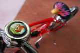 (BOULDER, CO., MAY 27, 2004) Equiped with a chipmunk bell and a wide seat a beach cruiser sits...