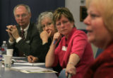 (SR162)  From left, Robert Stack and Linda Trimberger, both members of the Greeley-Evans Board of...