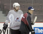 vancouver - FEB 27, 2008  ziemer-s... newest Colorado Avalanche player Peter Forsberg... Bill...