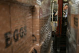 (SR170) A Food Bank of the Rockies employee Theron Gilson works with a forklift Thursday morning,...