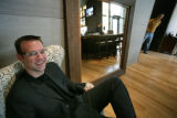 Peter Karpinski, senior VP, poses in his newiest restaurant-- Second Home in Denver, Colo, Friday,...