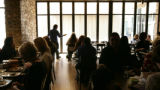 Friends and family get to try out food before the openig at Second Home in Denver, Colo, Friday,...