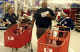 December 16,2004-Denver,Co.-The entire Penson family showed up to shop for the Christmas Crusade...