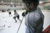 DM0022   Peter Forsberg participates in his first full-team practice since his return to the...