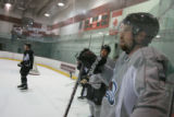 DM0406   Peter Forsberg participates in his first full-team practice since his return to the...