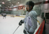 DM0463   Peter Forsberg participates in his first full-team practice since his return to the...