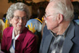 Walter and Marie Weingarten celebrate their 70th anniversary at 3 Margaritas in Thornton, ...