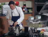 Thomas Keller (cq) during a cooking demonstration  at Johnson & Wales University  Wednesday...
