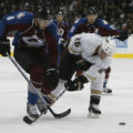 [ JOE120 ] Colorado Avalanche Wojtek Wolski (8) skates to the puck against Anaheim Mighty Ducks...