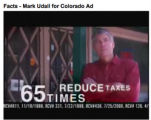 Response ad for Mark Udall as a response to attack ads. 7/31/08
