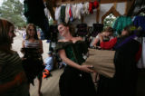 Colleen (c)  shows some corsets at Flying Cloud Corsets to Sami Rafferty, 14 of Westminister and...