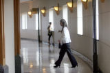 Nancy Bautista walks into the courtroom at the Jefferson County Courthouse on Monday, July 21,...