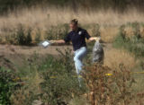Commerce City Police finish a  search for human remains  near 58th Avenue  and York Street in...