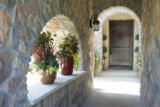 The courtyard entrance to Bella Vista, one of the houses in the Parade of Homes this year, the...