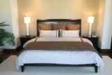 Master bedroom in Casa Vecchio e Nuovo, one of the houses in this Parade of Homes this year.  The...