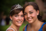(Denver, Colorado, July 20, 2008) Anne Lake and her little sister, possibly a future debutante,...