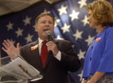 SATURDAY MARCH 8TH, 2008 (THE GAZETTE/KIRK SPEER) Congressman Doug Lamborn (left) and his wife...