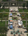 109  The plaza in the center of Civic Center Park is filled with vendors, shoppers and diners...