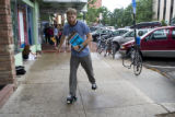 Joe Cooper, 25, (cq) skates in front of the Boulder Theatre, 2032 14th Street on Wednesday evening...