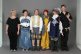 Members of the Buntport Theater, dressed in their favorite characters from various plays they've...