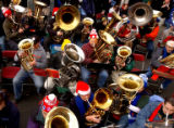Denver, Colo., photo taken Dec. 12, 2004- Over 350 Tuba players made their way to Larimer square...