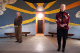 "(Castle Rock, Colo., December 15, 2004) Jack and Sue Pfeiffer at the Sanctuary, a ""spiritual..."