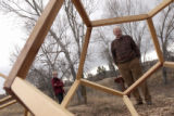 (Castle Rock, Colo., December 15, 2004) Sue and Jack Pfeiffer at the geometric park at the...