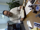 Rabbi Hillel Goldberg holds the book that he completed in Hebrew that was honored Sunday night,...