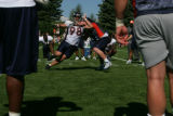 #67-Kory Lichtensteiger, (cq) center, blocks #98-Josh Mallard,  (cq) defensive tackle from passing...