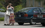 SAUL YOUNG/NEWS SENTINEL - SUNDAY - 072708 - Two members of the congregation of the Tennessee...
