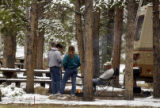 (FRISCO, Colorado... May 30, 2004) Hardy  campers at  Peak One campground in the White River...