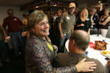 MJM501 Joan Fitz-Gerald greets supporters  Tuesday 08/12/08 at Amalgamated Transit Union in...