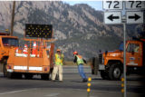 (JeffersonCounty, Colo., December 20, 2004)  Colorado Department of Transportation workers closed...