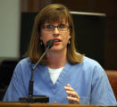 POOL PHOTO: Dr. Marilyn Marr (cq) testified in Denver Court Wednesday morning July 30,2008 where...