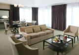 Interiors of Long's Peak hotel suite at the downtown Denver Westin Hotel.  Home Front story about...