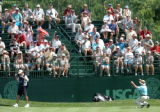 FRIDAY AUGUST 1ST, 2008  The crowd erupts jubilantly when Tom Kite (right corner) sunk a birdie on...