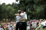 Eduardo Romero (cq), winner of the U.S. Senior Open Championship at The Broadmoor golf course 1...