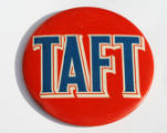 "Barbara Ryan, one-time political reporter, brought in a ""Taft for President"" badge. Not..."