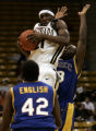 (Boulder, Colo. - December 21, 2004) -- University of Colorado Buffaloes point guard Marcus Hall,...