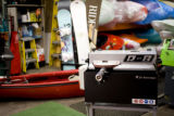 At Confluence Kayaks they fix and wax skies and snow boards, when Eat! Drink! Shop! visits a...