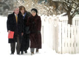 (1/5/05,DENVER, CO)  CU's former Director of University Relations, David Grimm, walks to a meeting...