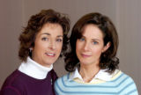 (JANUARY 2005) The real Dawn Anna, left, with actress Debra Winger for the upcoming Lifetime TV...