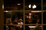 (PG11277) Gov. Bill Ritter speaks at the Fireside Restaurant while campaigning for Obama on a...