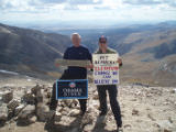 Cutline: Steve Plutt, the former chairman of the Park County Democratic Party, and his nephew,...