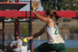 Mountain Vista's Kelly Unkrich in the 5A semi finals for Colorado State Softball Championships...